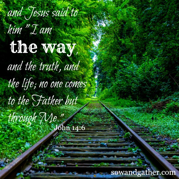Jesus+said+to+him,+ I+am+the+way,+and+the+truth,+and+the+life;+no+one+comes+to+the+Father+but+through+Me.'++John+14 6+#sowandgather+sowandgather.com