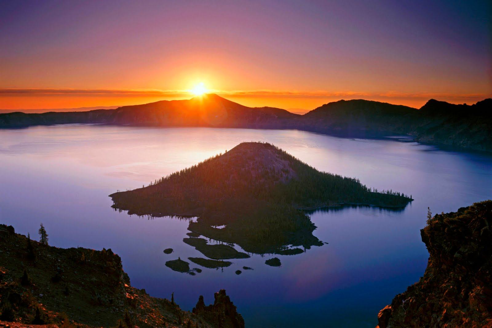 Sunrise in Mountain Nature Wallpaper