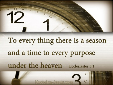 Ecclesiastes 3-1 To Everything There Is A Season Under Heaven brown